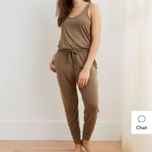 Aerie jumpsuit XS sage green rompers stretchy